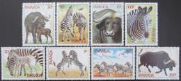 Poštovní známky Rwanda 1984 Zebry a buvoli TOP SET Mi# 1283-90 16€