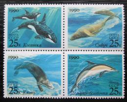 Poštovní známky SSSR 1990 Moøští savci Mi# 6130-33