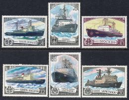 Poštovní známky SSSR 1978 Ledoborce, lodì Mi# 4804-09