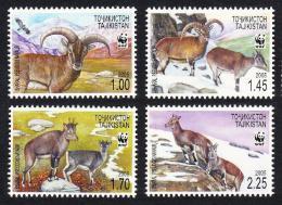 Poštovní známky Tádžikistán 2005 Nahur modrý, WWF Mi# 392-95 Kat 7.50€