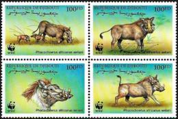 Poštovní známky Džibutsko 2000 Prase savanové, WWF Mi# 678-81 Kat 10€