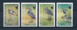 Poštovní známky SAR 1999 Èlunozobec africký, WWF Mi# 2211-14