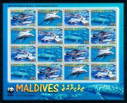 Poštovní známky Maledivy 2009 Elektra tmavá, WWF Mi# 4768-71 Bogen Kat 21€