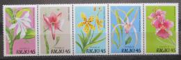 Poštovní známky Palau 1990 Kvìtiny Mi# 361-65