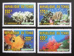 Poštovní známky Èad 1996 Korálový útes Mi# 1365-68