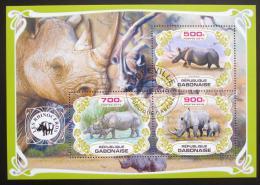 Poštovní známky Gabon 2019 Nosorožci Mi# N/N