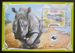 Poštovní známka Gabon 2019 Nosorožci Mi# N/N