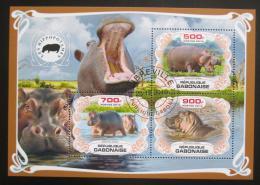 Poštovní známky Gabon 2019 Hroši Mi# N/N