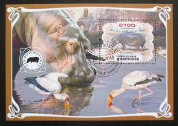 Poštovní známka Gabon 2019 Hroši Mi# N/N