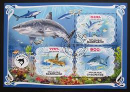 Poštovní známky Gabon 2019 Žraloci Mi# N/N