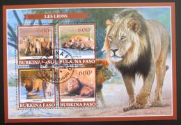 Poštovní známky Burkina Faso 2019 Lvi Mi# N/N