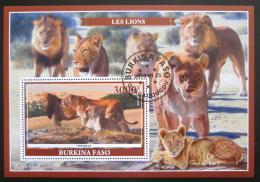 Poštovní známka Burkina Faso 2019 Lvi Mi# N/N