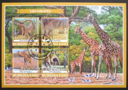 Poštovní známky Burkina Faso 2019 Žirafy Mi# N/N