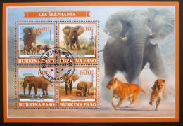 Poštovní známky Burkina Faso 2019 Sloni Mi# N/N