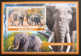 Poštovní známka Burkina Faso 2019 Sloni Mi# N/N