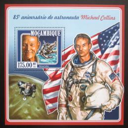 Poštovní známka Mosambik 2015 Michael Collins Mi# Block 995 Kat 10€