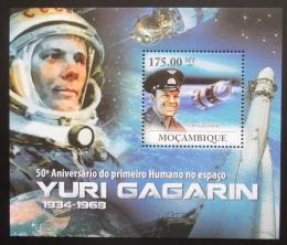 Poštovní známka Mosambik 2011 Jurij Gagarin Mi# Block 456 Kat 10€