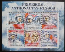 Poštovní známky Mosambik 2011 Sovìtští kosmonauti Mi# 5428-33 Kat 23€