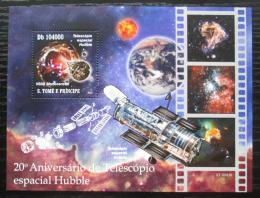 Poštovní známka Svatý Tomáš 2010 Hubbleùv vesmírný dalekohled Mi# Block 779 Kat 10€