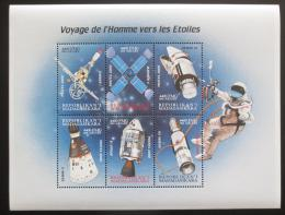 Poštovní známky Madagaskar 2000 Vesmírné sondy a satelity Mi# 2485-90 Kat 12€