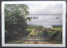Poštovní známka Libérie 1994 Vlak Mi# Block 135