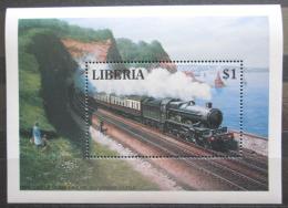 Poštovní známka Libérie 1994 Parní lokomotiva Mi# Block 138