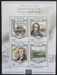 Poštovní známky Niger 2015 Staré parní lokomotivy Mi# 3330-33 Kat 12€