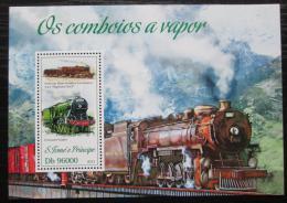 Poštovní známka Svatý Tomáš 2013 Parní lokomotivy Mi# Block 913 Kat 10€