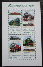 Poštovní známky Svatý Tomáš 2013 Parní lokomotivy Mi# 5266-69 Kat 10€
