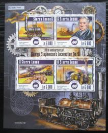 Poštovní známky Sierra Leone 2015 Parní lokomotivy Mi# 6224-27 Kat 11€