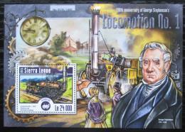 Poštovní známka Poštovní známka Sierra Leone 2015 Parní lokomotivy Mi# Block 779 Kat 11€