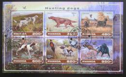 Poštovní známky Rwanda 2017 Loveètí psi Mi# N/N