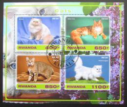 Poštovní známky Rwanda 2017 Koèky Mi# N/N