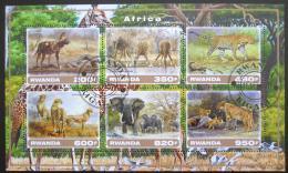 Poštovní známky Rwanda 2017 Africká fauna Mi# N/N