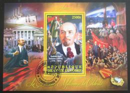 Poštovní známka Pobøeží Slonoviny 2012 Vladimir Iljiè Lenin Mi# N/N