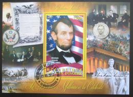 Poštovní známka Pobøeží Slonoviny 2012 Abraham Lincoln Mi# N/N