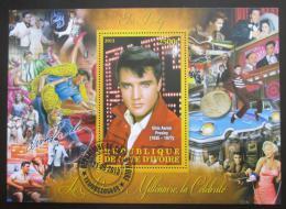 Poštovní známka Pobøeží Slonoviny 2012 Elvis Presley Mi# N/N