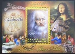 Poštovní známka Pobøeží Slonoviny 2012 Leonardo da Vinci Mi# N/N