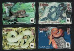 Poštovní známky Samoa 2015 Kandoia fidžská, WWF Mi# 1222-25 Kat 8€