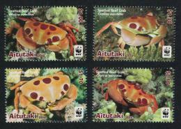 Poštovní známky Aitutaki 2014 Krabi, WWF Mi# 923-26 Kat 11€