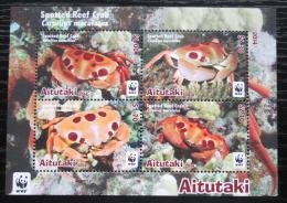 Poštovní známky Aitutaki 2014 Krabi, WWF Mi# Block 99 Kat 11€