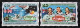 Poštovní známky Aitutaki 1994 První let na Mìsíc, 25. výroèí Mi# 728-29 Kat 15€