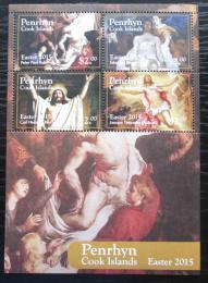 Poštovní známky Penrhyn 2015 Velikonoce, umìní Mi# Block 114 Kat 14€