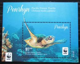 Poštovní známka Penrhyn 2014 Kareta obrovská japonská, WWF Mi# Block 111 Kat 13€
