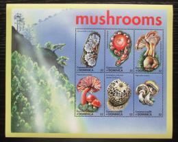 Poštovní známky Dominika 2001 Houby Mi# 3182-87 Kat 13€