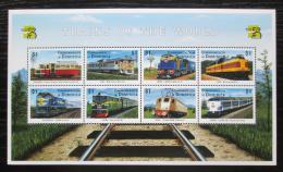Poštovní známky Dominika 1999 Lokomotivy Mi# 2639-46