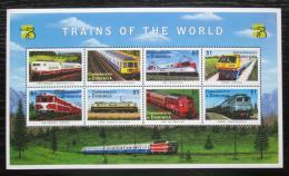 Poštovní známky Dominika 1999 Lokomotivy Mi# 2647-54