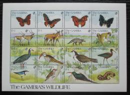 Poštovní známky Gambie 1991 Africká fauna Mi# 1113-28
