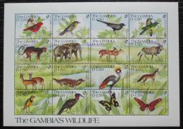 Poštovní známky Gambie 1991 Africká fauna Mi# 1129-44 Kat 12€