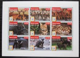 Poštovní známky Sierra Leone 1995 Ohrožená fauna Mi# 2285-93 Kat 11€